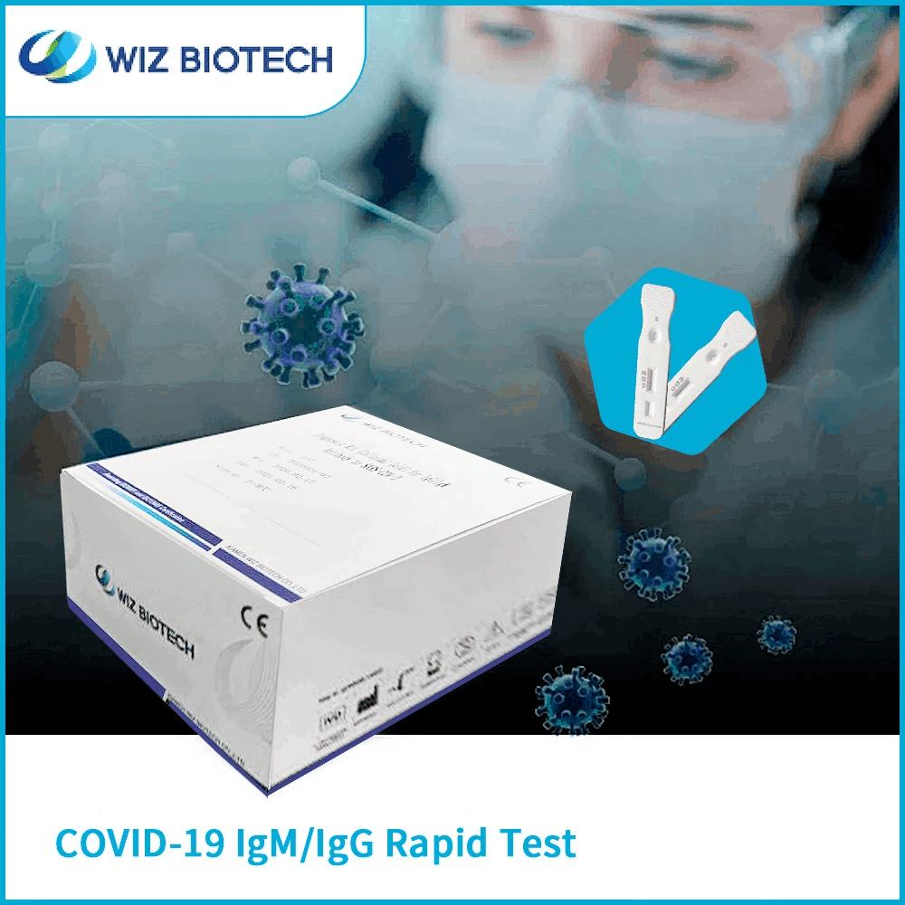 Wiz Biotech COVID-19 IgM IgG test rapido