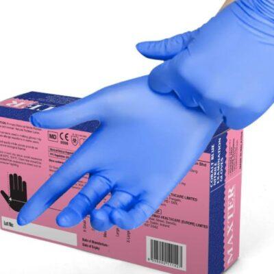 Guanti-Monouso-100-Nitrile-Cobalto-Blu-Senza-Talco-Antivirus-Premiun-Quality-MAXTER-100pz